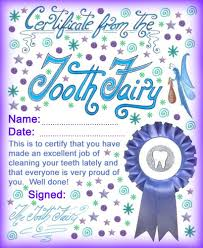 Free Printable Halloween Certificates by Tooth Fairy Certificate Award For Brushing Teeth Over Halloween