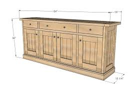 Buffet Tables And Sideboards by Ana White Planked Wood Sideboard Diy Projects
