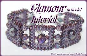 weave beaded bracelet images Beading pattern bracelet tutorial instructions glamour style jpg