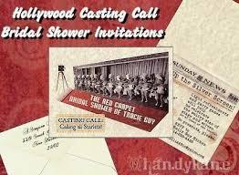 Movie Ticket Wedding Invitations Bridal Shower Invitations Hollywood Movie Red Carpet Theme