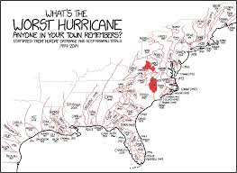 United States Storm Map by Hurricane Fran September 5 1996