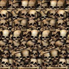 30ft catacombs mural dungeon skulls bones halloween scene setter