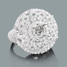 semi mount engagement rings unique semi mount ring 2 50ct 18k gold