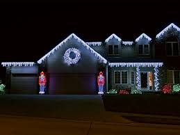 outside led christmas lights and this christmas lights house blue
