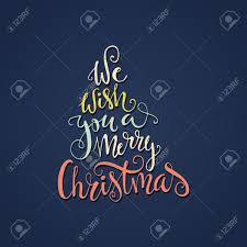 we wish you a merry christmas quote in a shape of a christmas