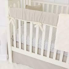 Gender Neutral Nursery Bedding Sets by Easton U0027s Linen And Ivory Bumperless Crib Bedding Caden Lane