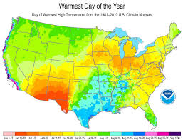 Noaa Maps When To Expect The Warmest Day Of The Year National Centers For