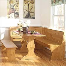 Corner Storage Bench Plans by 6 Chelsea All Wood Dining Nook Kitchen Table With Corner Storage