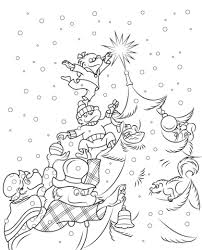 the berenstain bears christmas tree coloring page free printable
