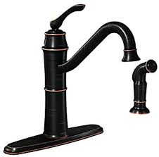 kitchen faucet with side spray moen 87999brb high arc kitchen faucet with side spray from the