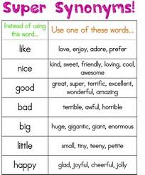 Synonyms exactly what second graders need this time of the year to
