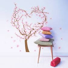 blossom tree wall sticker all about stickers love heart blossom tree wall sticker the binary box
