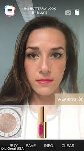 see what you would look like with different color hair l oreal makeup genius app reveals which lipsticks and eyeliners