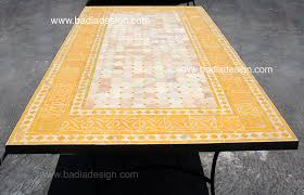 Mosaic Patio Table Top by Patio Furniture Moroccan Tiles Los Angeles