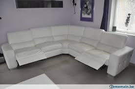canapé d angle chateau d ax salon d angle chateau d ax en cuir blanc haute gamme a vendre