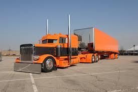 peterbilt trucks wallpapers lorry peterbilt orange cars