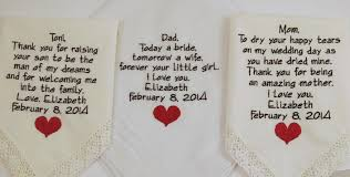 wedding gift poems embroidered wedding hankerchiefs gift poem heart