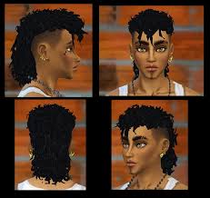 the sims 4 natural curly hair male curls for the sims 4 i made a version with my sims 4