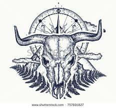 buffalo tattoo stock images royalty free images u0026 vectors
