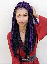 grey and purple combined together style box breads 40 awe inspiring ways to style your crochet braids