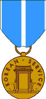 korean service ribbon korean service medal