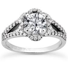flower engagement rings diamond halo flower engagement ring setting split band