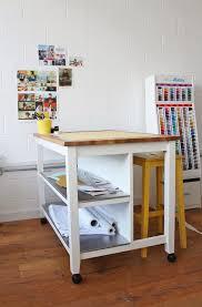 cutting table hack adding castors to stenstorp kitchen island