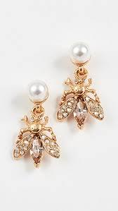 button earrings oscar de la renta bug button earrings shopbop