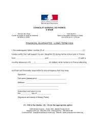 Financial Warranty Letter visa financial guarantee sle letter format