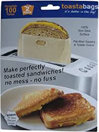 How To Make Grilled Cheese In Toaster Amazon Com Toaster Bags For Grilled Cheese Sandwiches Made Easy