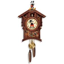 Mickey Mouse Furniture by The Mickey Mouse Cuckoo Clock Hammacher Schlemmer