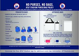 United Airlines Bag Policy by At U0026t Stadium Purse Bag Policy Dallas Cowboys