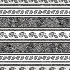 seamless bohemian background in shades of gray stock vector art