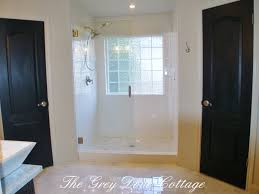 farm house style master bath large shower retro fit shower into
