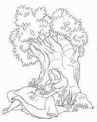 alice wonderland color pages alice sleeping tree