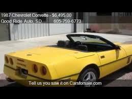 87 corvette for sale 1987 chevrolet corvette convertible yellow for sale in tea