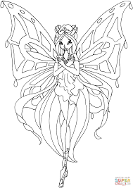 enchantix flora coloring page free printable coloring pages