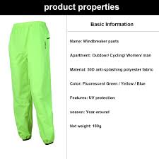 fluorescent waterproof cycling jacket amazon com west biking cycling reflective rain pants