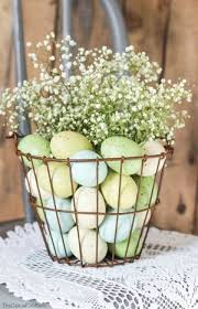 Vintage Easter Decorations Pinterest by Best 25 Wire Basket Decor Ideas On Pinterest Blanket Storage