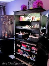 Makeup Vanity Jewelry Armoire Custom Jewelry Armoire Storage 1 Large Bottom Drawer 5 Small