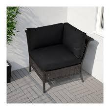 ikea garden bed kungsholmen corner section outdoor black brown ikea