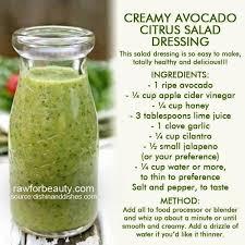 creamy avocado citrus salad dressing no cream no oil recipe
