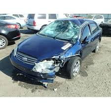 transmission toyota corolla 2003 used 2003 toyota corolla parts car blue with gray interior 4