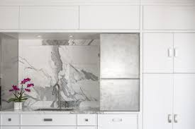 a white washed u0026 caluctta marble kitchen design in ottawa canada