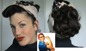 1940s bandana hairstyles hotd 14 rosie the riveter updo retro vintage 40 s hairstyle scarf