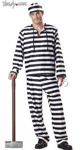 prisoner costume convict costume jailbird costume mens