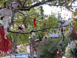scary halloween decorations outdoor exterior ideas of fall
