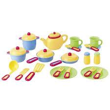 cuisine dinette enfant dinette 27 pièces jouet enfant vaisselle assiette casserole