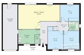 plan maison de plain pied 3 chambres pavillon de plain pied dé du plan de pavillon de plain pied