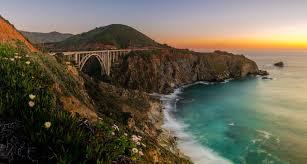 photography nature landscape sunset sea bridge coast